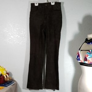 W28 L31 dark chocolate leather suede pants